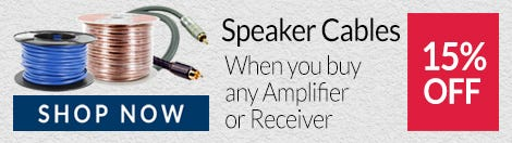 15% Off Speaker Cables when you buy an Amp or Receiver