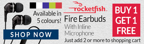 Rocketfish Earbuds RFFR1 Buy 1 Get 1 Free!
