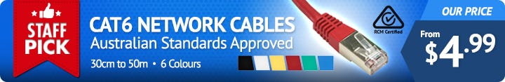 RCM-Certified CAT6 Network Cables Australian Standards Approved