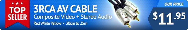 3RCA AV Audio Visual Cable