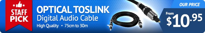 Optical Toslink Digital Audio Cable