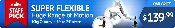 Super Flexible Desktop Mount for Computer Monitors / Screens