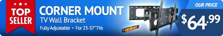 Corner Mount TV Wall Bracket for 23-37 Inch Screens
