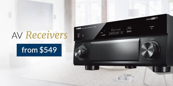 AV Receivers from $549