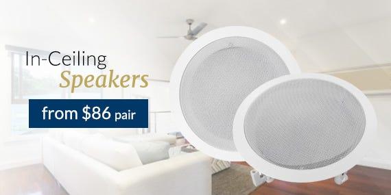In-Ceiling Speakers from $86 pair