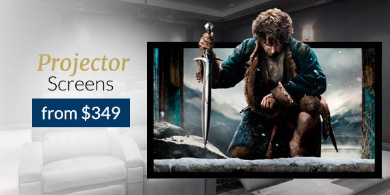 Fixed Projector Screens from $349!
