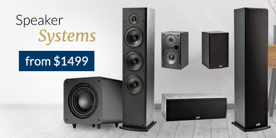 Home Theatre Speaker Systems from $1499!