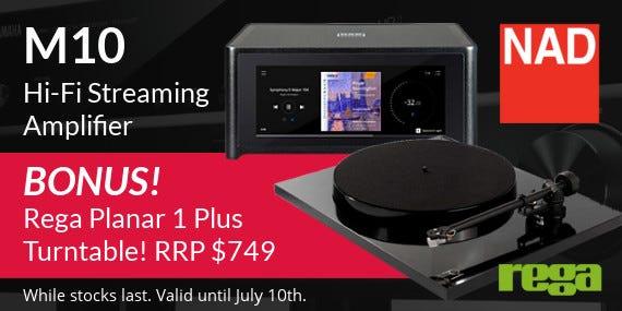 BONUS Rega Planar 1 Plus with the NAD M10 Streaming Amp!