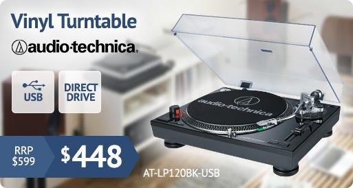 Audio-Technica LP120 USB Turntable in Black AT-LP120BK-USB
