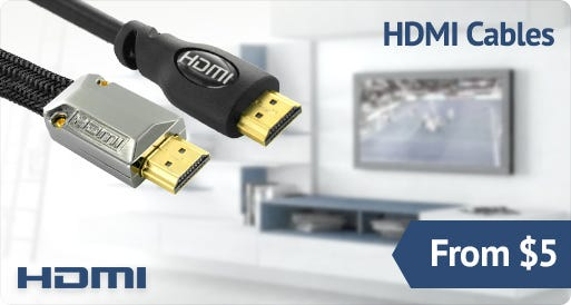 HDMI Cables from $5