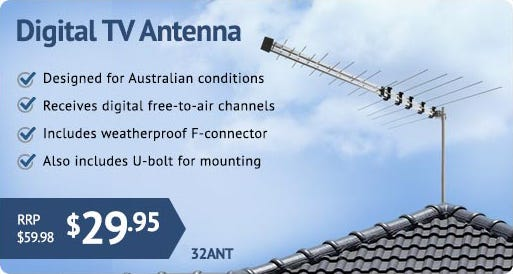 This versatile antenna receives both digital and analogue television signals