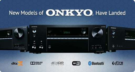 All New Onkyo Home Theatre Receivers Available Now