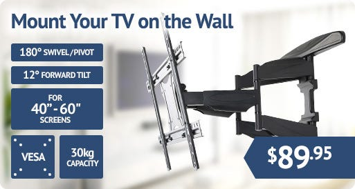 Mount your TV on the wall