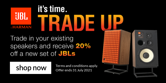 Trade UP your speakers with JBL and get 20% off!