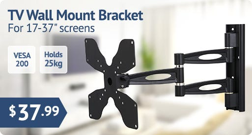 LArge monitor & LCD TV Full-motion Wall Mount Bracket