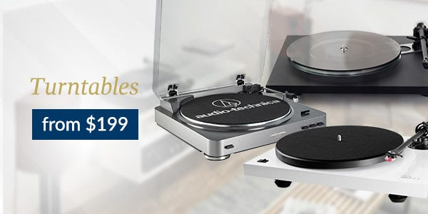 Turntables from $199