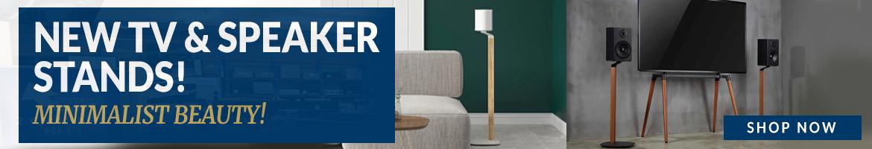 New TV & Speaker Stands - Minimalist Beauty!