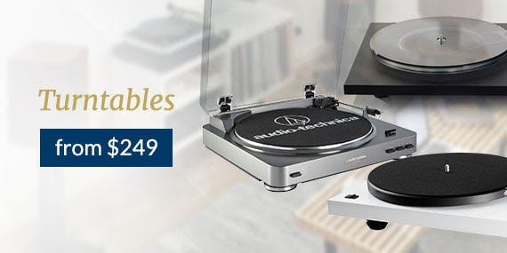 Turntables from $249