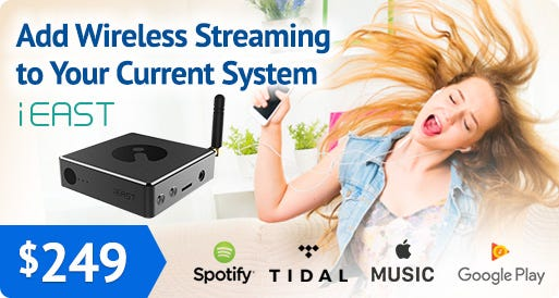iEast SoundStream Pro Wireless WiFi Music Streamer