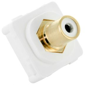 Digitek RCA White Female to Female Terminal Connector For Custom Wall Plate 05BC4W