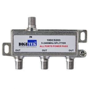 Digitek 3-Way F-Type Splitter 5-2400MHz 10DCS203