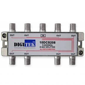 Digitek 8-Way F-Type Splitter 5-2400MHz 10DCS208