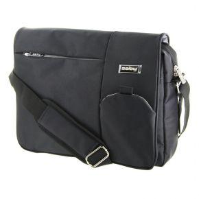 """15.6"""" Laptop Bag Notebook Shoulder Satchel Carry Case for Macbook and PC Black LTB15BG"""