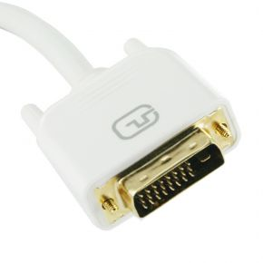 1m DVI-D Male-Male Cable White Dual Link for LCD Screen PC Monitor DV4351W1M