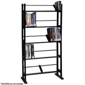230 CD / 150 DVD Blu-ray Media Rack Multimedia Storage Shelf Unit Black 35535557