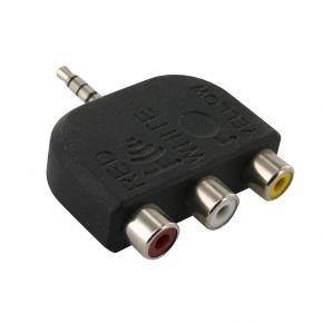 3.5mm 4 pole plug to 3x RCA jacks for iPod AA1943