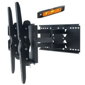 42-70 Inch LED LCD Plasma TV Wall Mount Bracket Black Full Motion Tilt Pivot PLB110L.bl