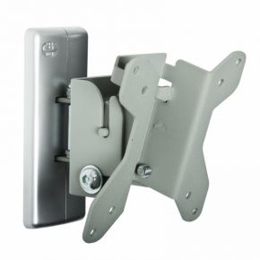 "Up to 23"" Single Screen LCD LED TV Monitor Tilt Swivel Wall Mount Bracket Silver BT7518S"