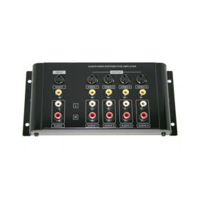 4 Way SVHS / Composite + Stereo Distribution Amp Splitter A1047