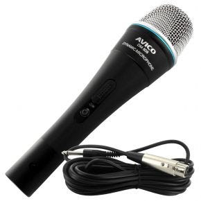 Avico DM-808 Vocal Karaoke Stage Microphone w/ Switch & Mic Cable DM808