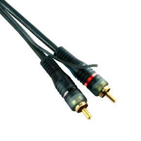 6m Avico Stereo Cable 2RCA w Earth