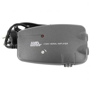 Amp Master 2-Way 18dB Indoor Antenna Signal Amplifier Booster AMP-18 AMP18