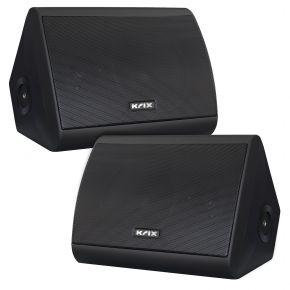 "Krix Aquatix 5"" 2-Way 80W RMS Marine Grade Waterproof Outdoor Speakers Black (Pair)"