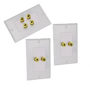 Avico Wall Plate Pack for 2 Speakers White BUN900564