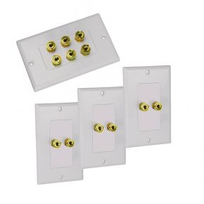 Avico Wall Plate Pack for 3 Speakers White BUN900566