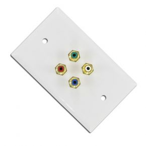 Budget Component Video Digital Audio Cable Wall Plate A1145A