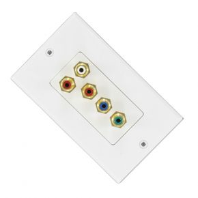 Budget Component Video Stereo Audio Cable Wall Plate A1117