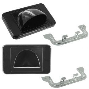 2 Pack Bull Nose Wall Plates for Cable Management (Black) BULLPRBK