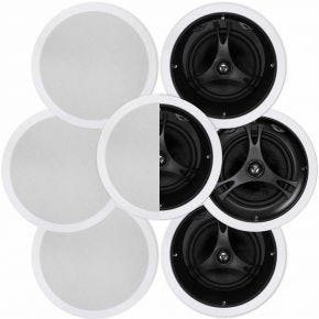"Selby 8"" In-Ceiling 7 Speaker Surround Pack"