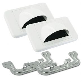 2 Pack Bull Nose Forward Wall Plates (White) BUN900556