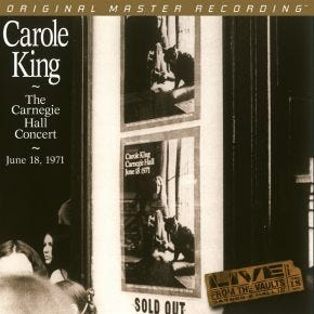 Carole King - The Carnegie Hall Concert MoFi 2LP 180g Numbered