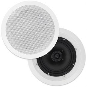 "OEM 8"" Poly Cone In Ceiling Surround Speakers Pair CS807"