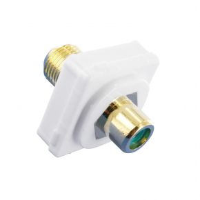Digitek RCA Female Green to F Female Terminal Connector For Custom Wall Plate Gold Plated 05BC1G