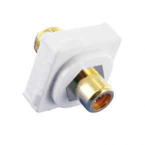 Digitek RCA Female Orange to F Female Terminal Connector For Custom Wall Plate Gold Plated 05BC1O