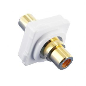 Digitek RCA Orange Female to Female Gold Plated Terminal Connector For Custom Wall Plate 05BC4O