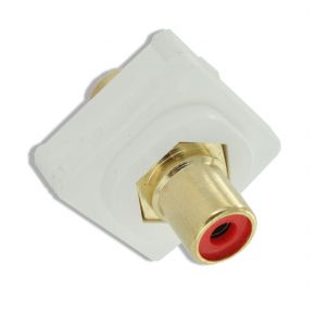 Digitek RCA Red Female to Female Terminal Connector For Custom Wall Plate 05BC4R